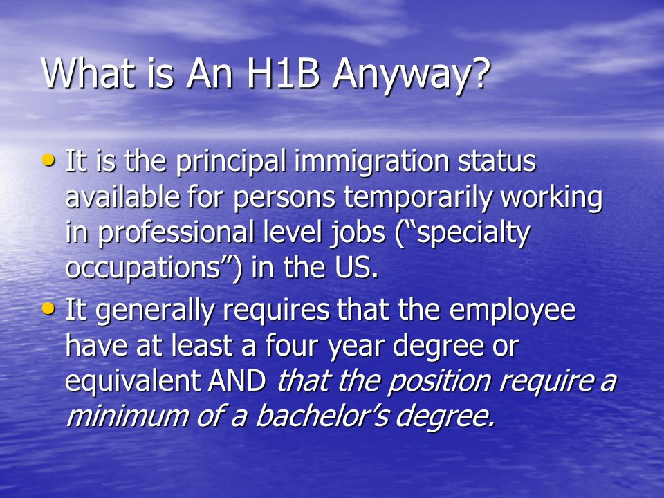 The Coveted H1B: Convincing the Employer to Sponsor - ppt video