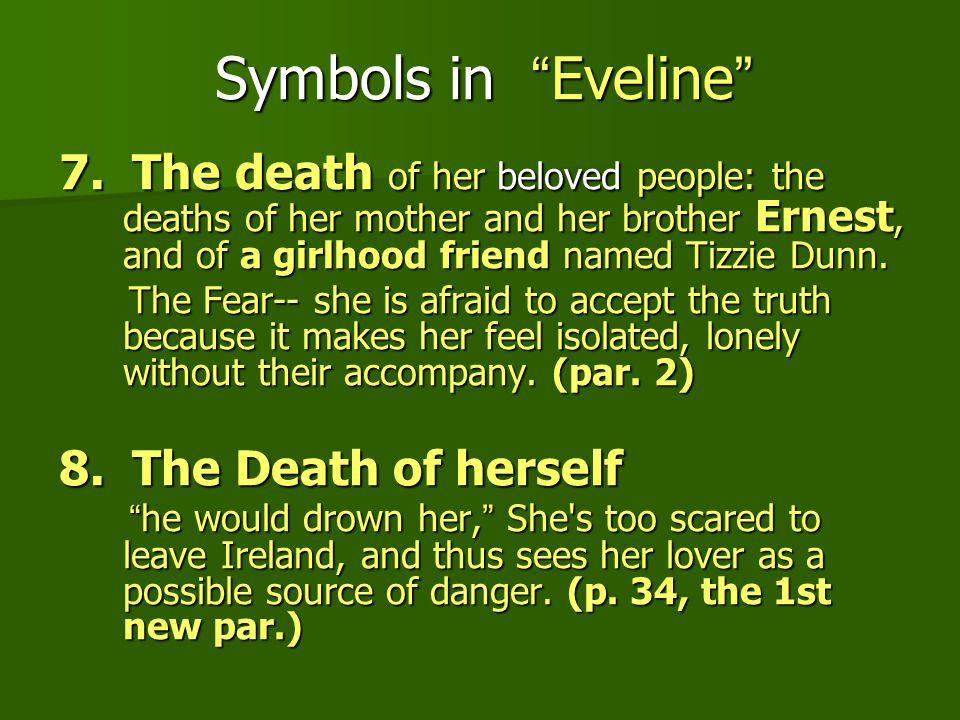 Eveline And The Dead From James Joyces Dubliners Ppt Video