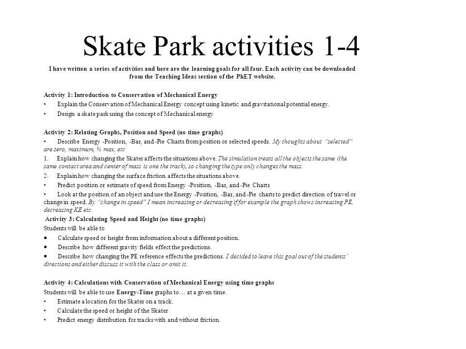 Energy Skate Park Phet Energy Etfs