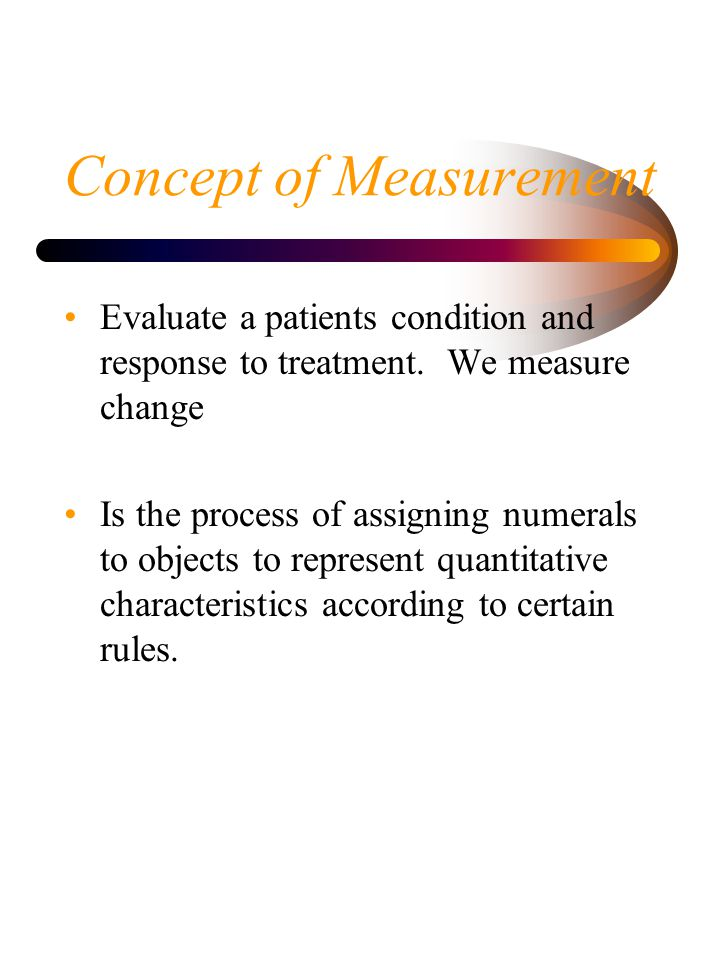 Concept of Measurement