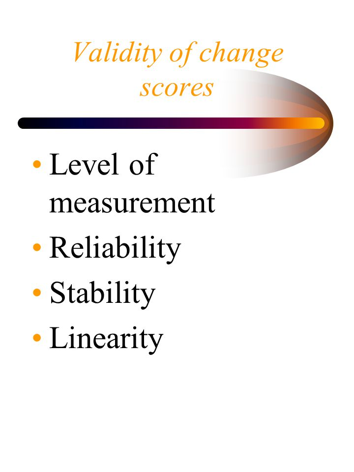 Validity of change scores