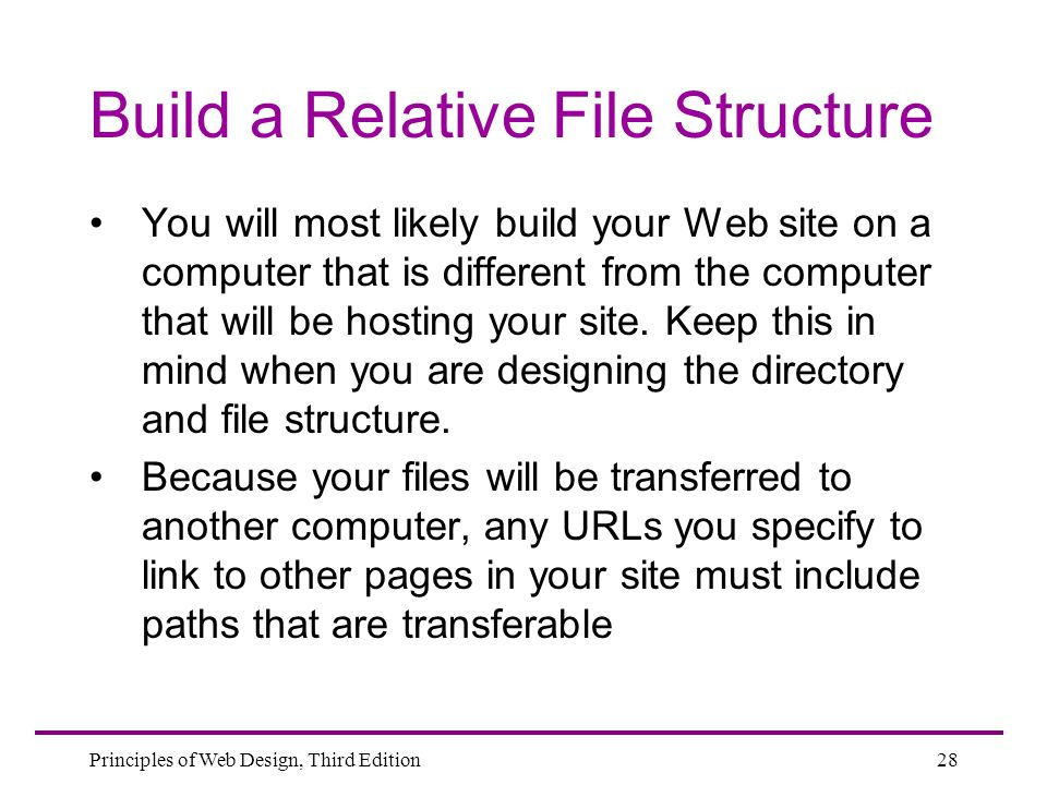 Build a Relative File Structure