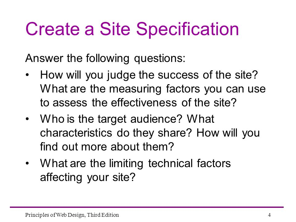 Create a Site Specification