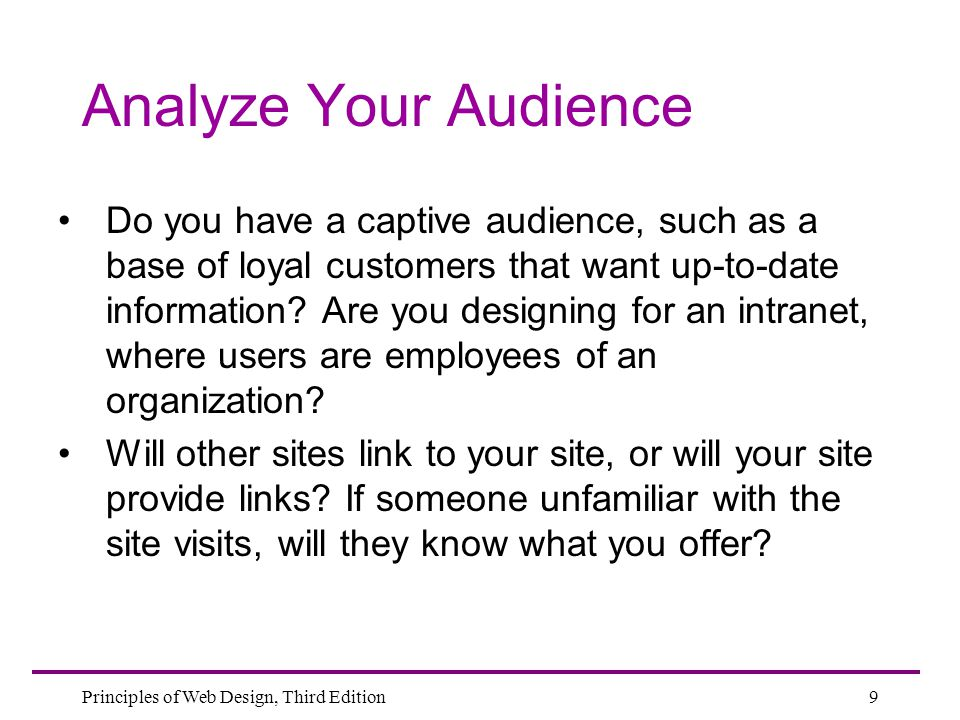 Analyze Your Audience
