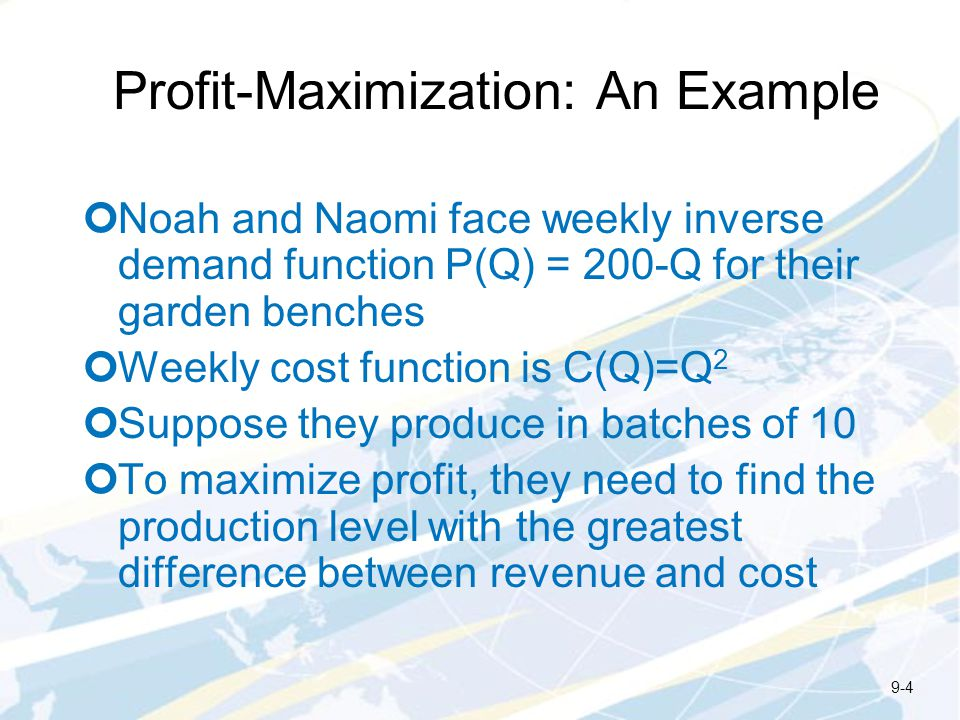 Profit-Maximization: An Example