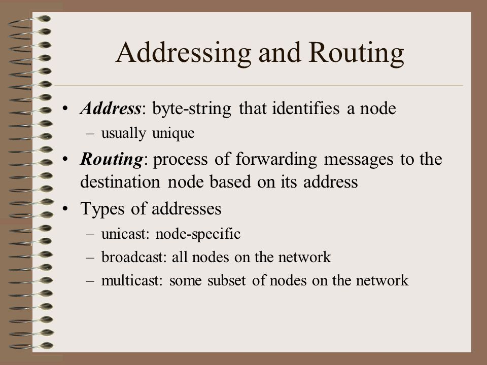 Addressing and Routing