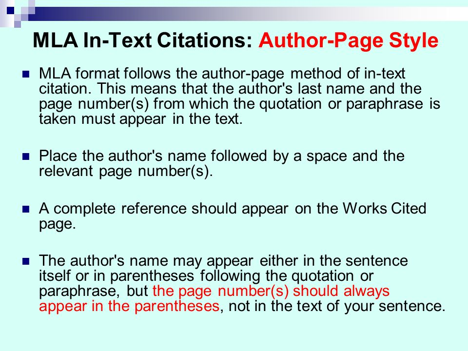 Mla In Text Citation Website No Author Example Mla In Text