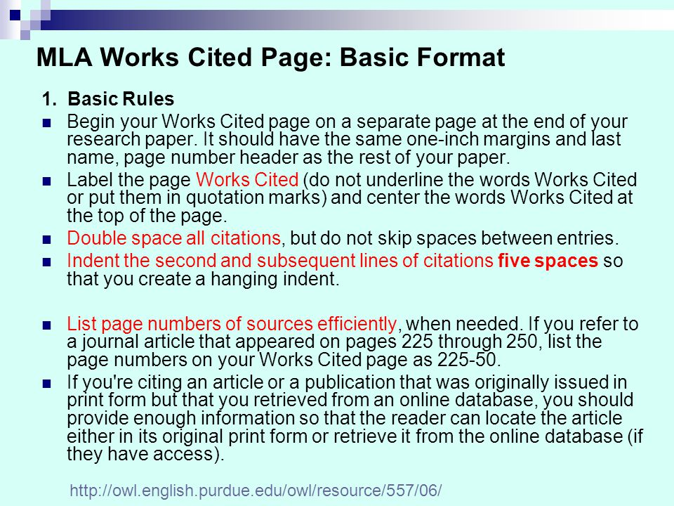 formatting design when formatting your mla format works cited page