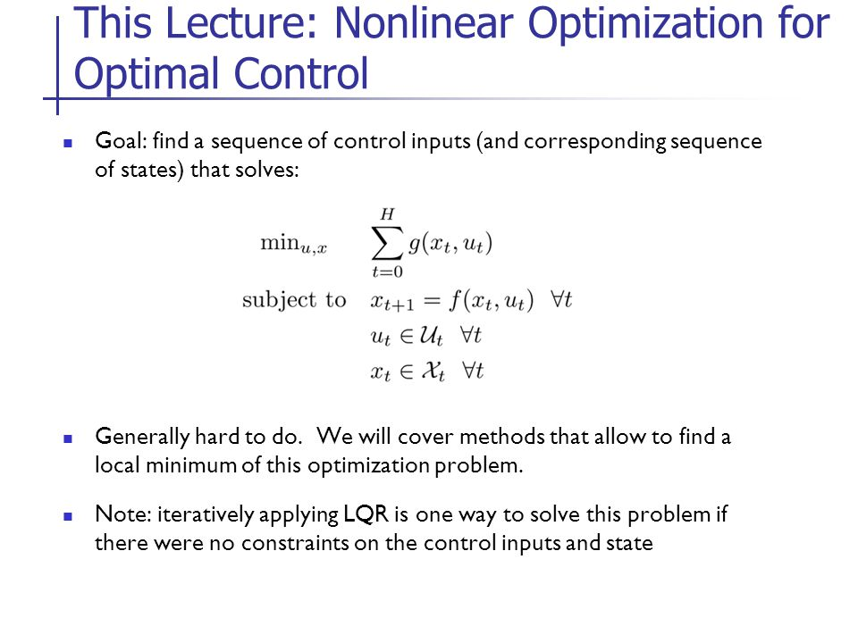 nonlinear optimization - Isken kaptanband co