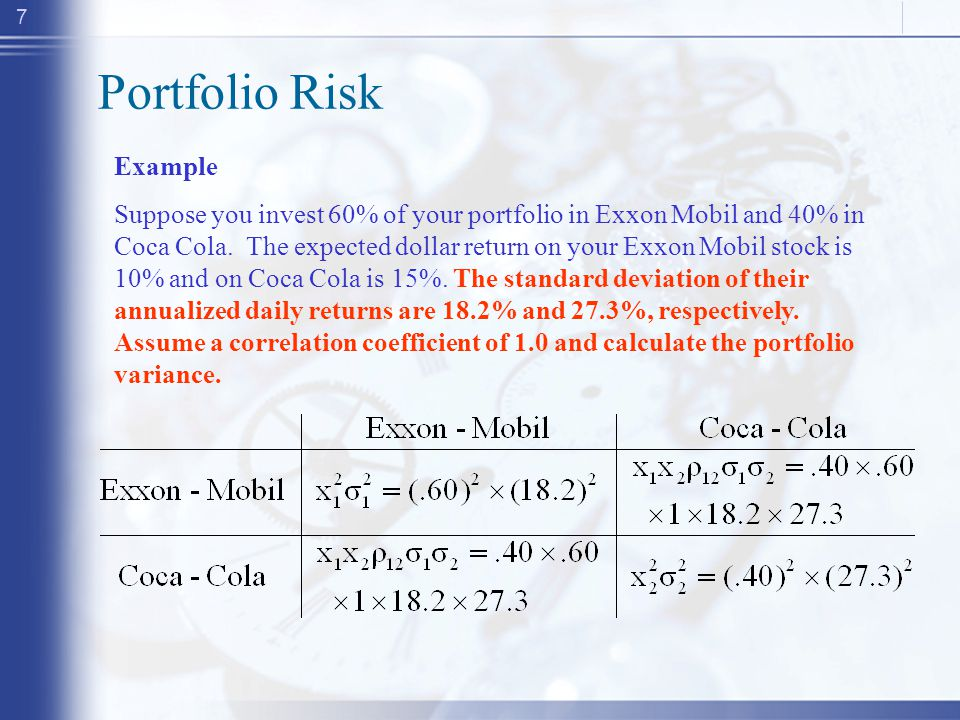 Today Risk and Return Reading Portfolio Theory - ppt download