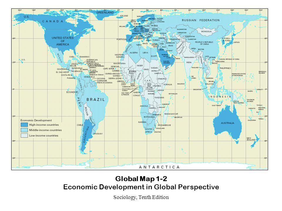 Global Map 1-2 Economic Development in Global Perspective
