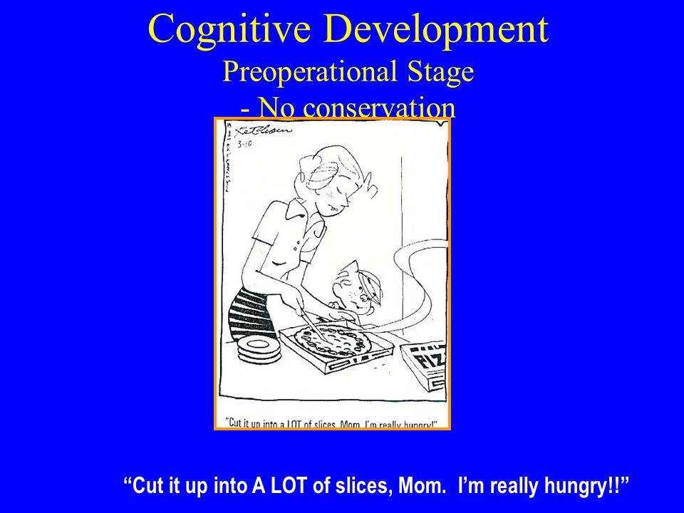 Cognitive Development Preoperational Stage - No conservation