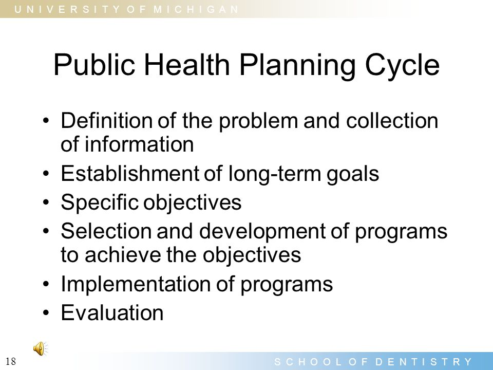 Public Health Planning Cycle