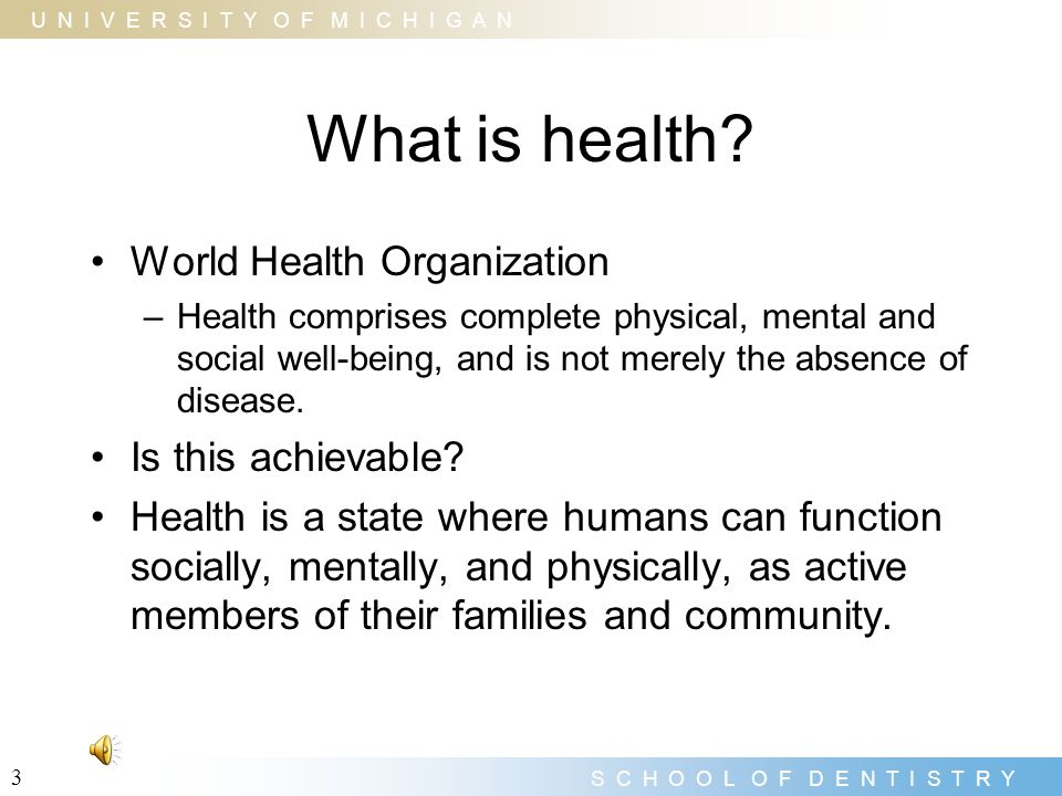 What is health World Health Organization Is this achievable