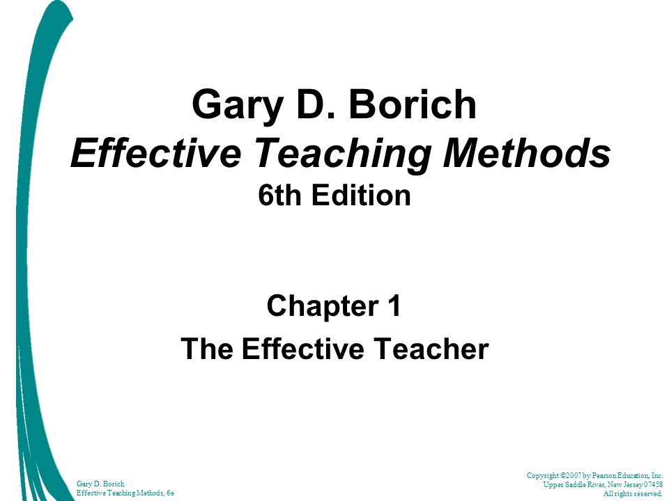 implementing effective teaching methods essay Teaching strategies the fundamental importance of teaching strategies is to make it easier to implement a variety of teaching methods and techniques here you will find a variety of teaching strategies to help students take more responsibility for their own learning and enhance the process of teaching for learning.