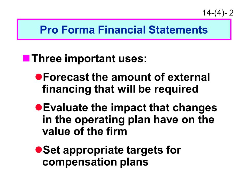 Additional Funds Needed Afn Formula Pro Forma Financial Statements Ppt Download
