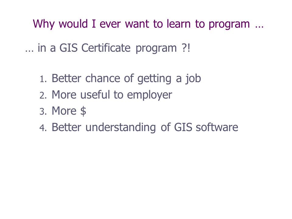 Gis 4107 Introduction To Programming Ppt Video Online Download