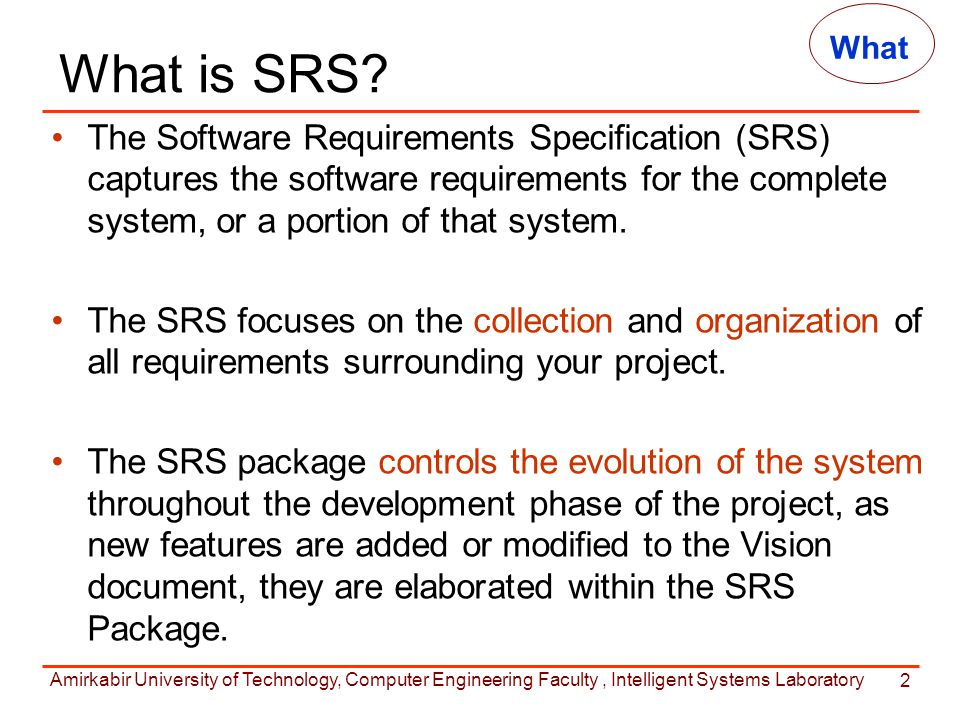 What Is Srs >> Requirements Specification Ppt Video Online Download