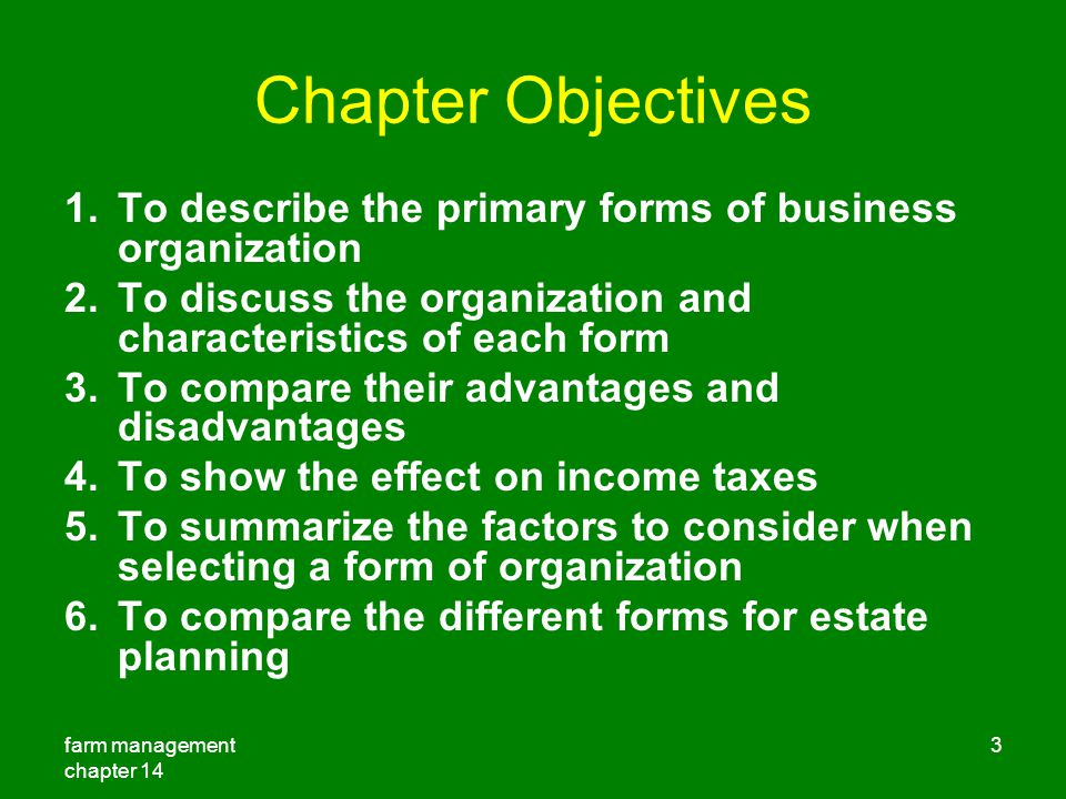 chapter 14 forms of business organization ppt download