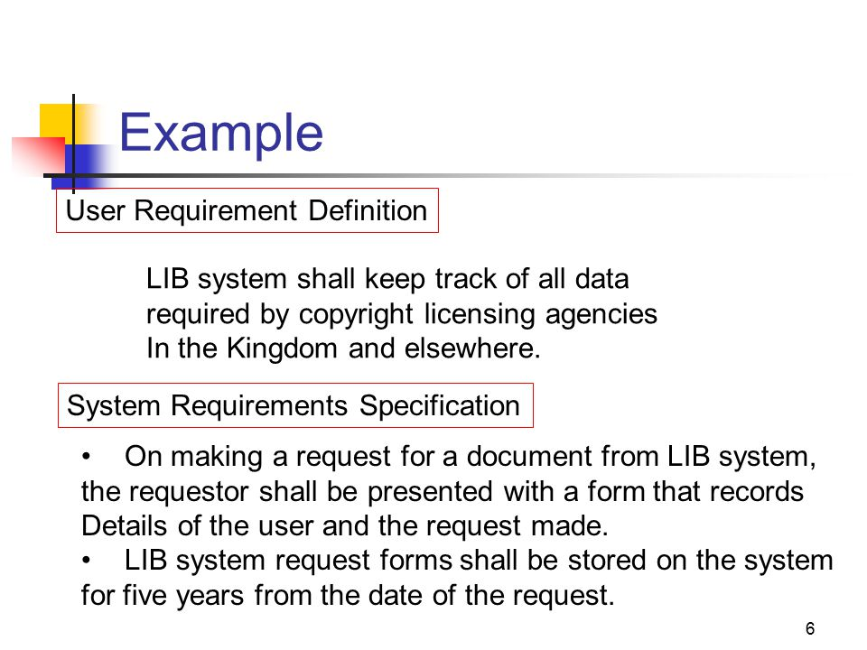 Example Of System Requirement Specification