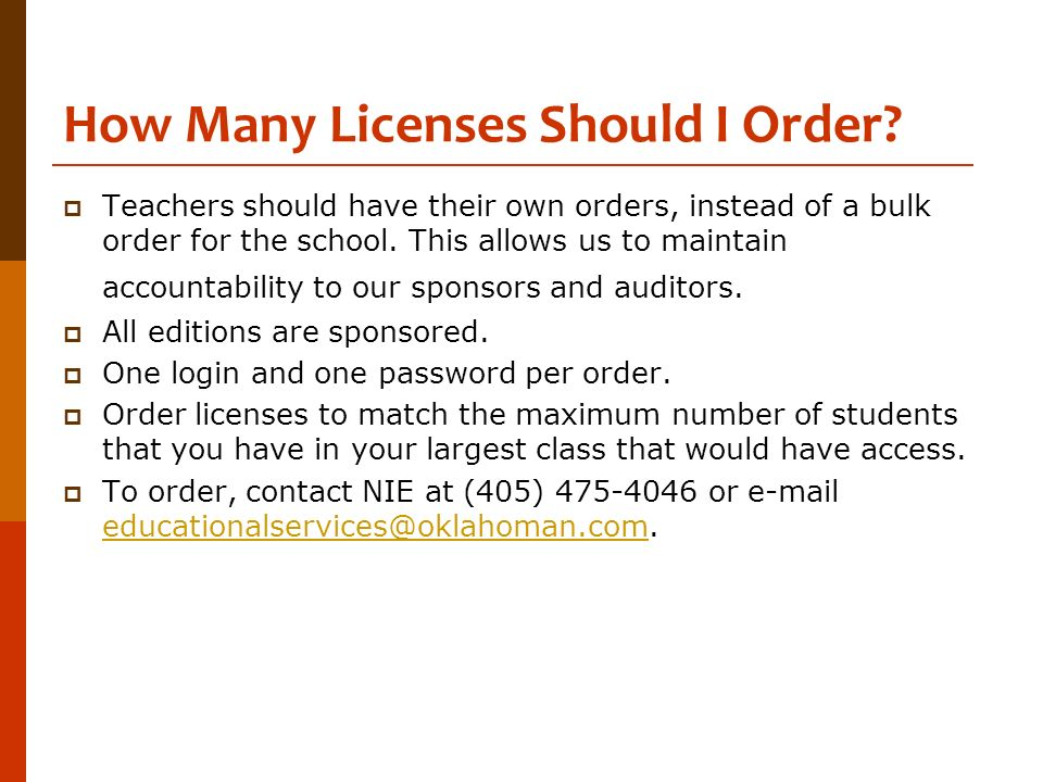 How Many Licenses Should I Order