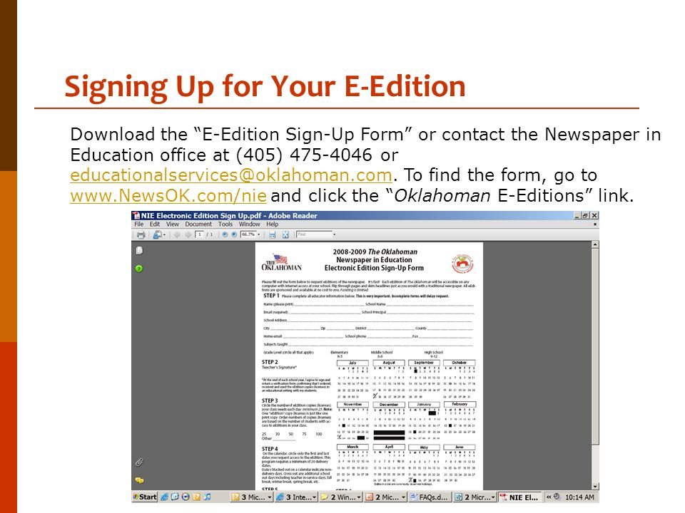 Signing Up for Your E-Edition