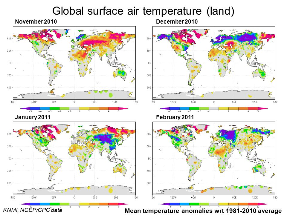 Global surface air temperature (land)