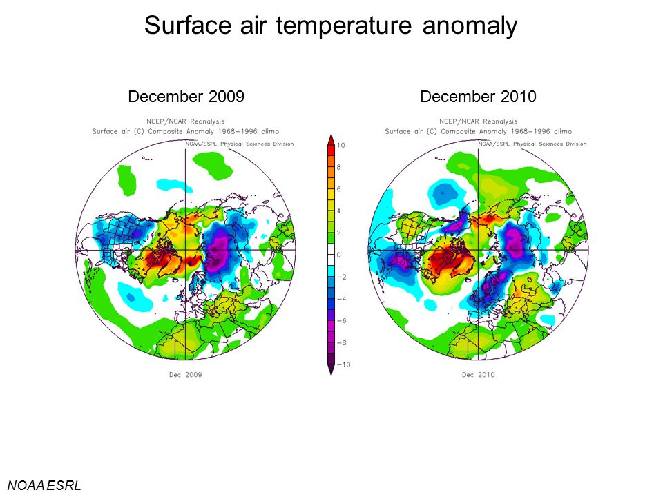 Surface air temperature anomaly