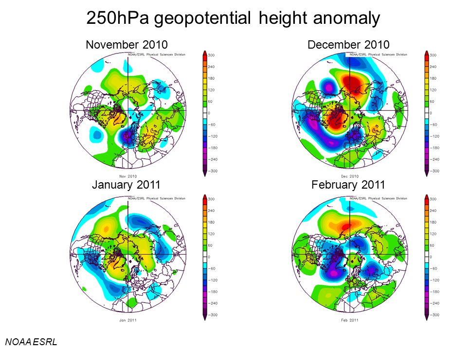 250hPa geopotential height anomaly