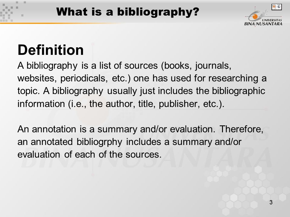 Definition What is a bibliography
