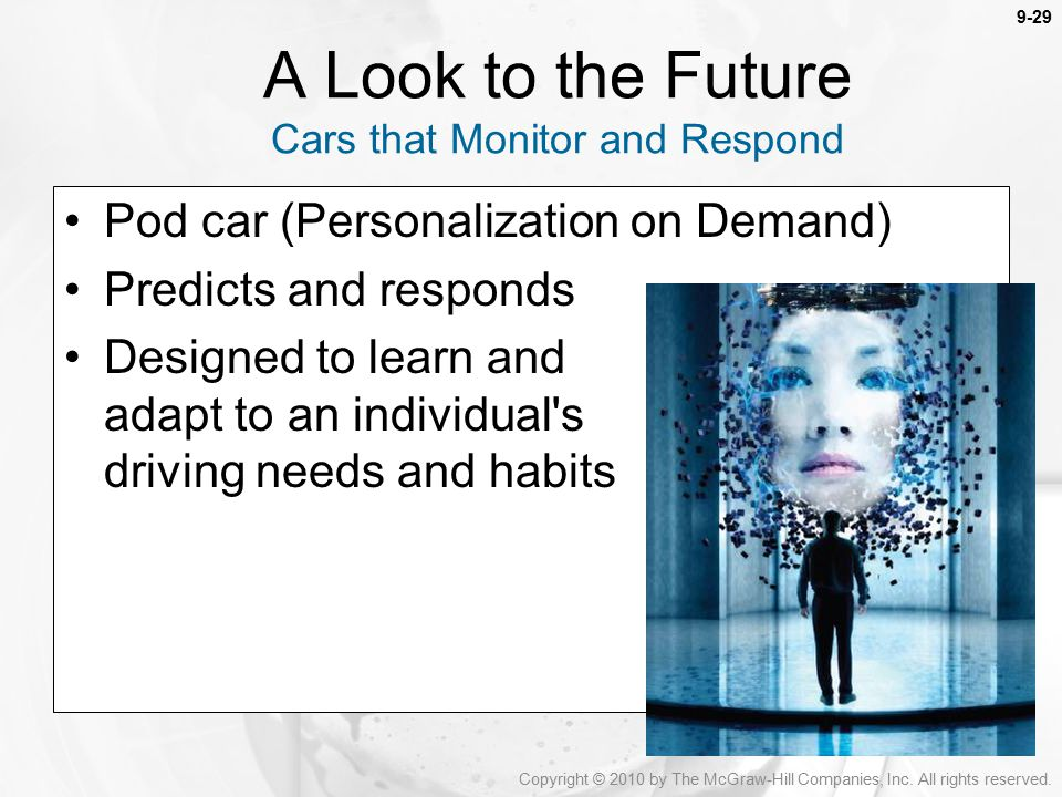 A Look to the Future Cars that Monitor and Respond