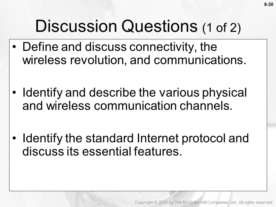 Discussion Questions (1 of 2)