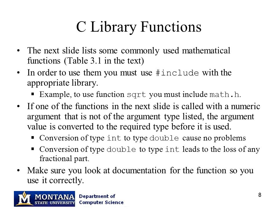 By Photo Congress || List Of C Library Functions