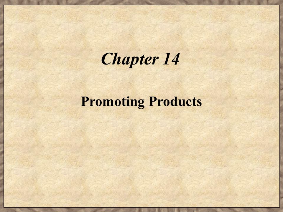 Chapter 14 Promoting Products