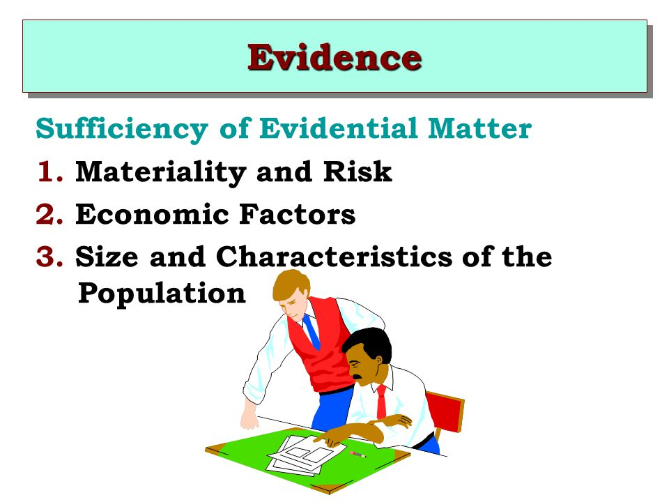 Evidence Sufficiency of Evidential Matter 1. Materiality and Risk