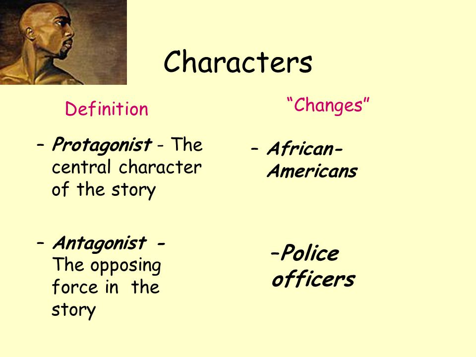 Characters Police officers Changes Definition