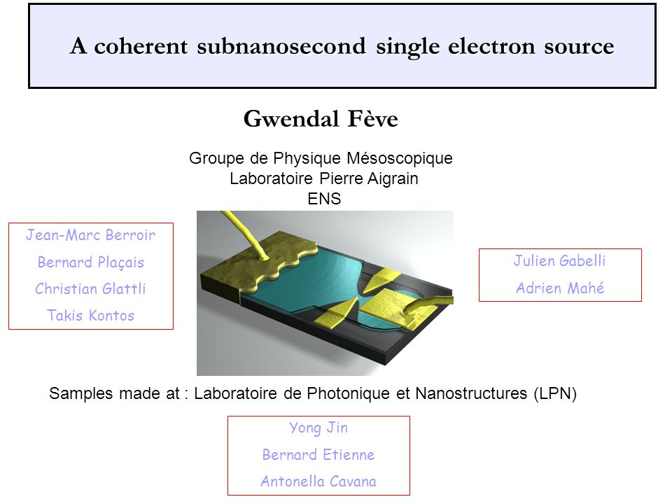 A coherent subnanosecond single electron source