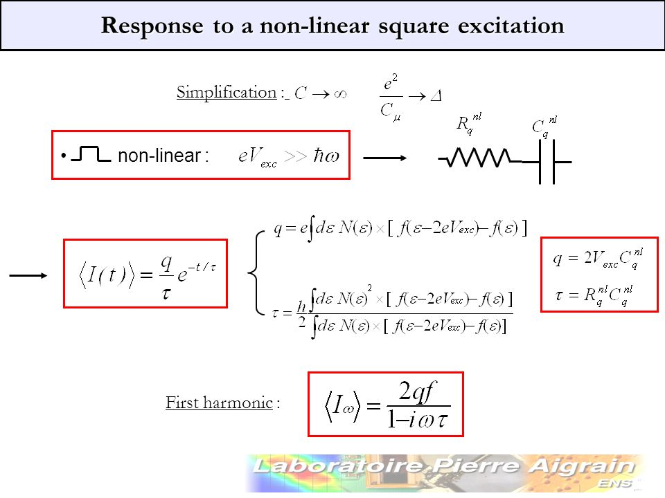 Response to a non-linear square excitation