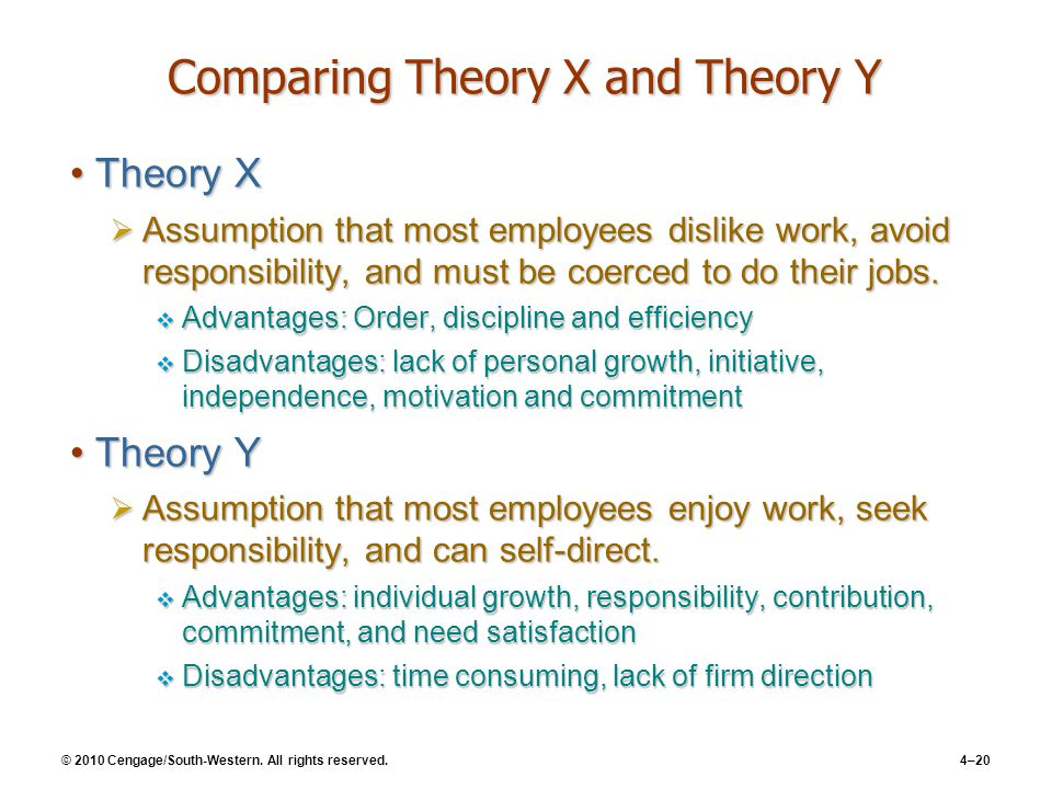 challenges of theory x and y