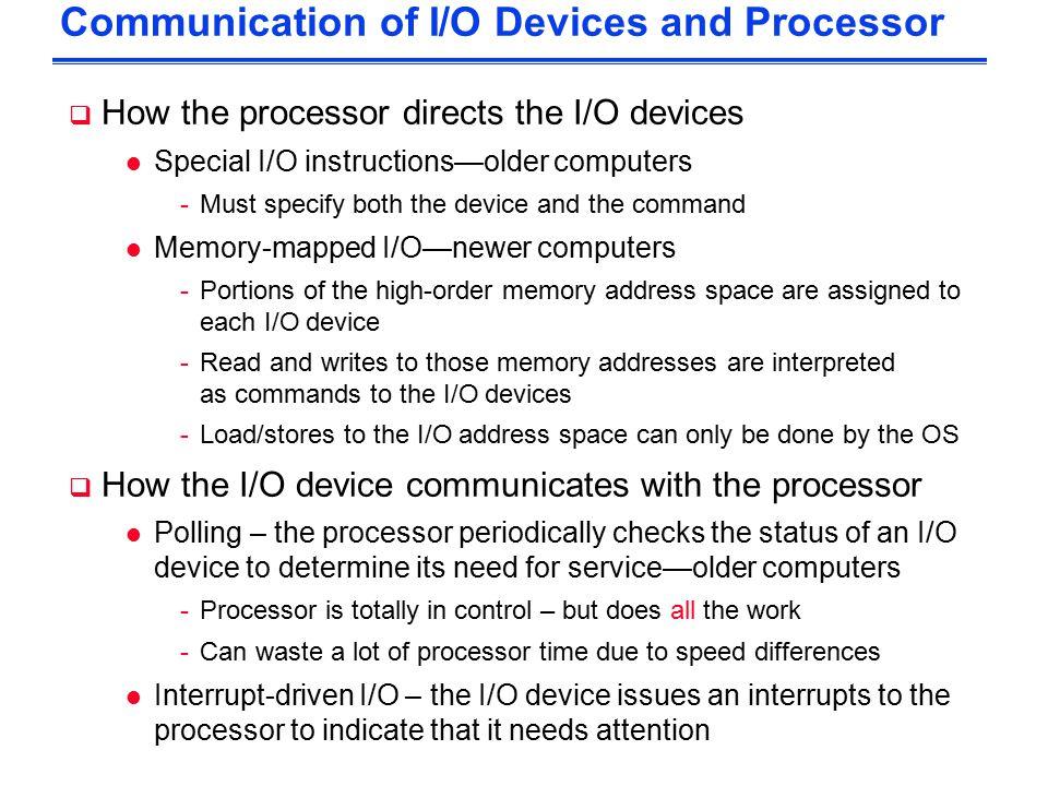 i o processor in computer architecture pdf