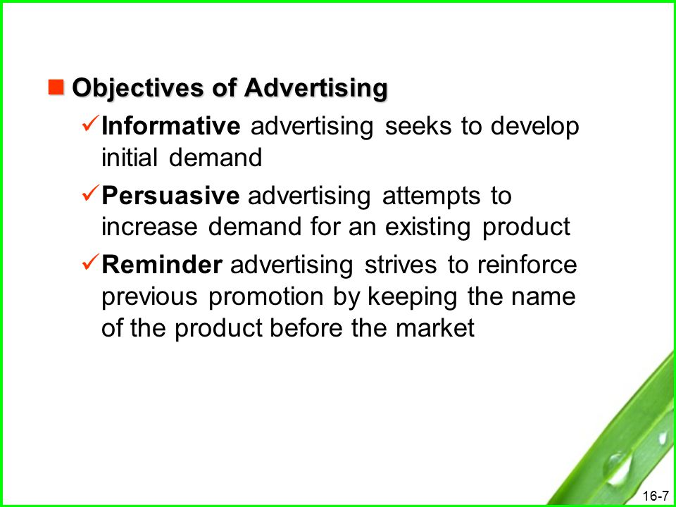 informative advertising and persuasive advertising