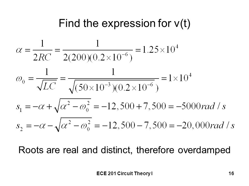 Find the expression for v(t)