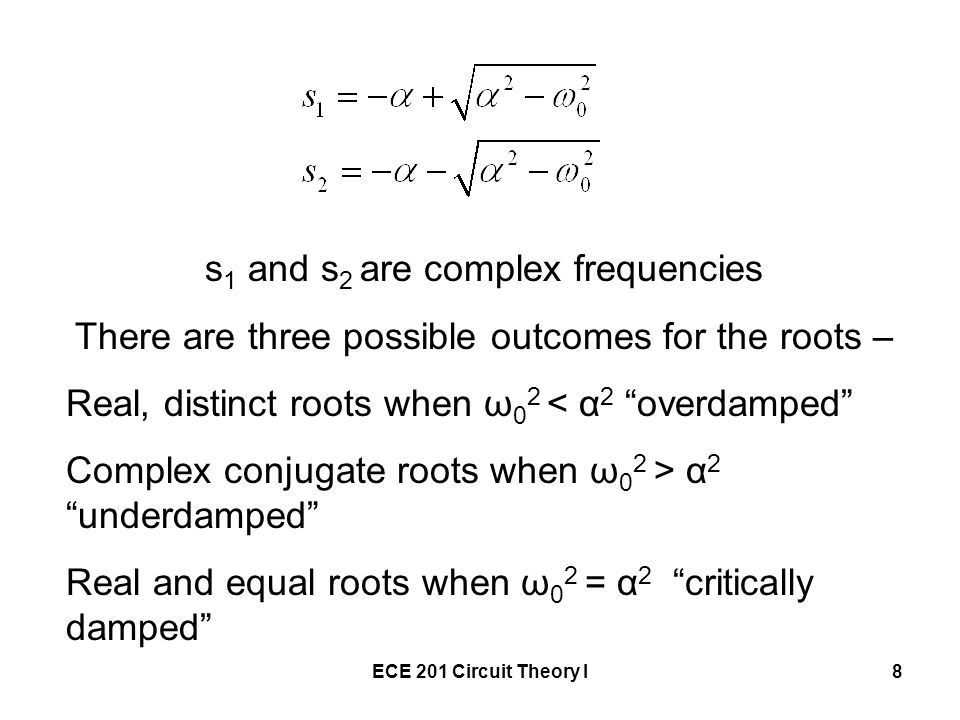 s1 and s2 are complex frequencies