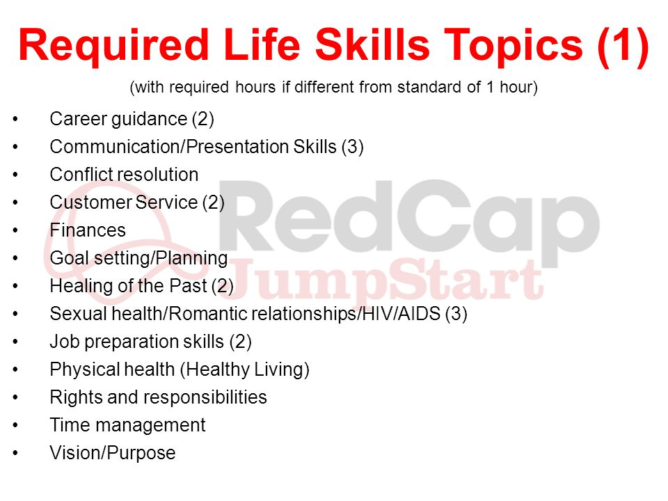 Required Life Skills Topics (1)