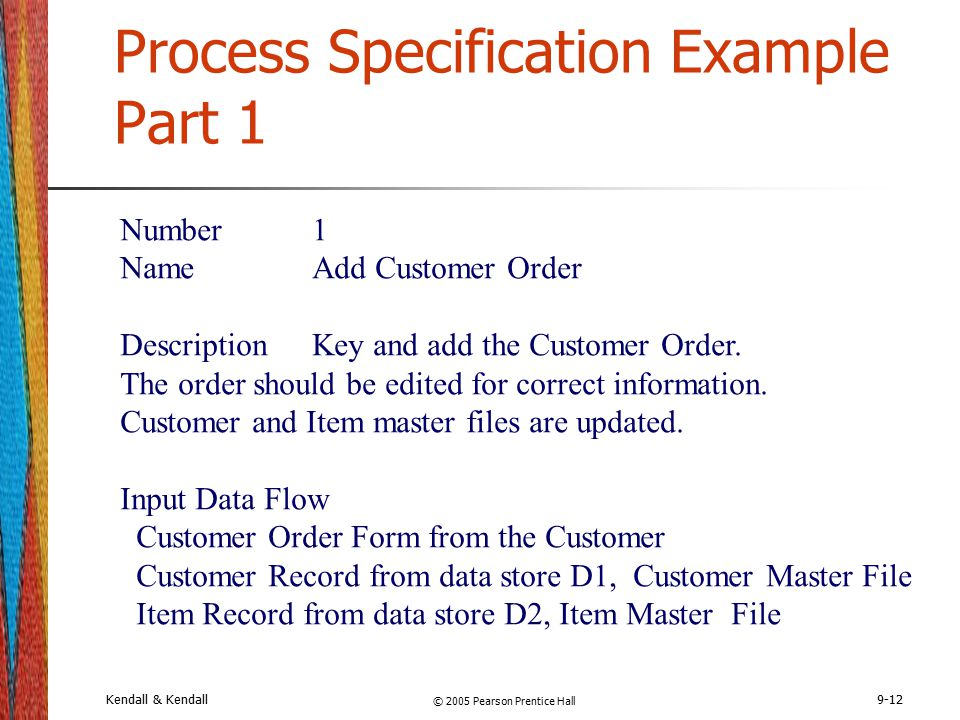 Chapter 9 Describing Process Specifications and Structured Decisions ...