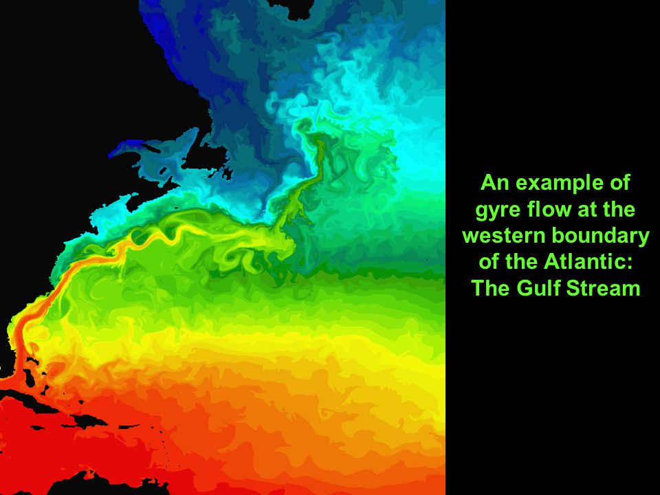 An example of gyre flow at the western boundary of the Atlantic: The Gulf Stream