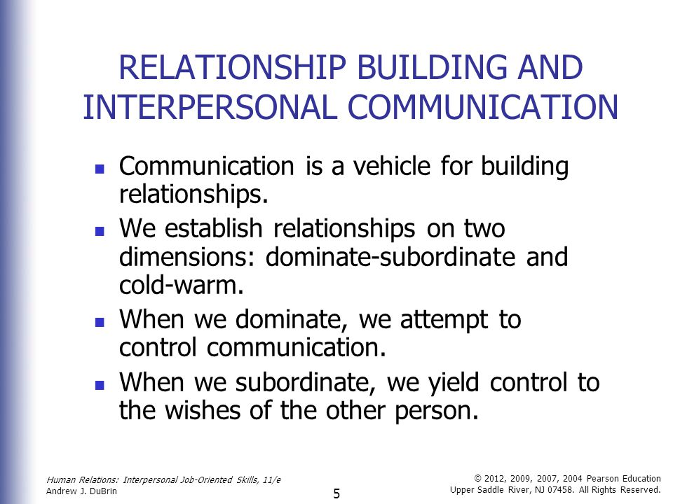 interpersonal communication in relationships
