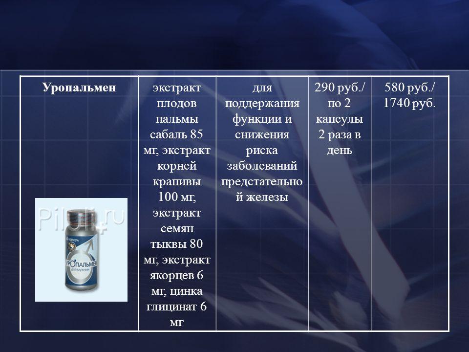 Уропальмен по выгодной цене уропальмен купить в москве, инструкция.