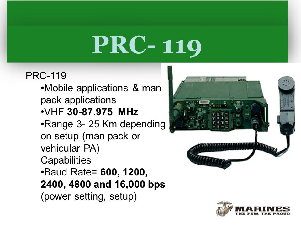 Prc 119 range