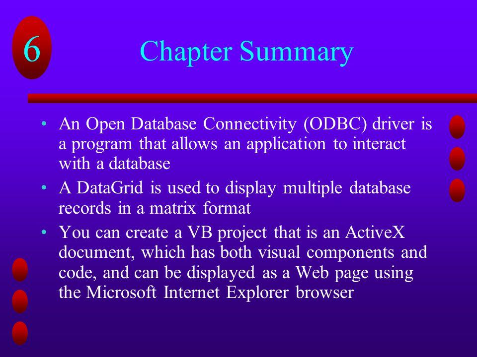 Using Visual Basic 6 0 to Create Web-Based Database Applications
